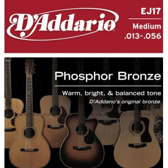D'ADDARIO Phosphor Bronze Round Wound Acoustic Strings