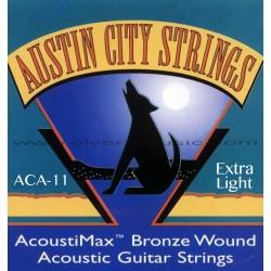 AUSTIN CITY Cuerdas Extra-Light Para Guitarra Acustica