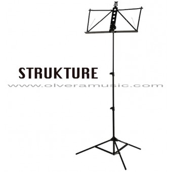STRUKTURE Deluxe Aluminum Music Stand - Black
