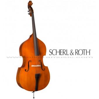 Scherl & Roth (SB900L1CFH) Contrabajo Doble Outfit Modelo Estudiante Medida 1/4