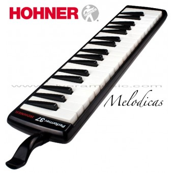 "Hohner (S37) ""Performer"" Piano Style Melodica - Black"