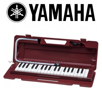 Yamaha (P37D) Pianica de 37 Teclas Rango de 3 Octavas - Color Rojo