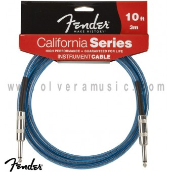FENDER Cable para Instrumento Serie California Azul 10ft (3m).