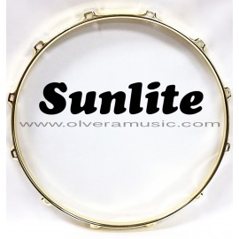 SUNLITE Brass Plated Top Snare Hoop - 12 Lug
