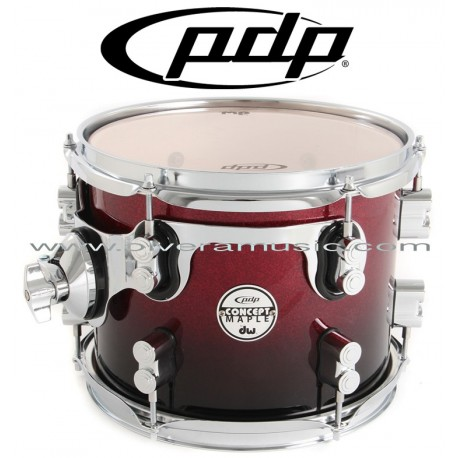 Pdp Concept Maple Series 7 Piece Drum Set Red To Black Fade