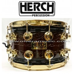HERCH Snare 14x8 Brown Antique Color 12-Lug