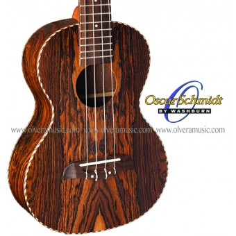 OSCAR SCHMIDT by Washburn Exotic Bacote Wood Ukulele - Concert