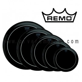 REMO Ebony Pinstripe Drum Head - Black