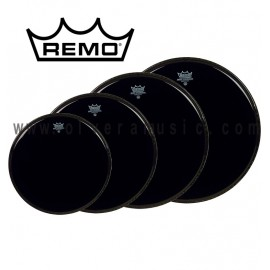 Remo Ebony Ambassador Drum Head Plain (Black)