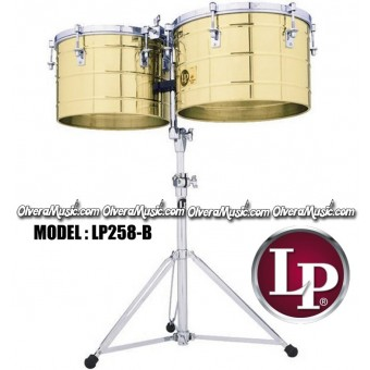 "LP Thunder Tito Puente Timbales 15"" & 16"" Extra Deep Shells - Brass Finish"