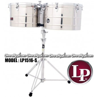 "LP Prestige Timbales 15"" & 16"" Extra Deep Shells - Stainless Steel Finish"