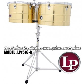 "LP Prestige Timbales 15"" & 16"" Extra Deep Shells - Brass Finish"