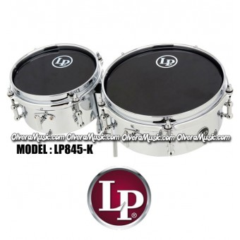 LP Mini Timbales Set w/Clamp - Chrome Plated Steel Finish