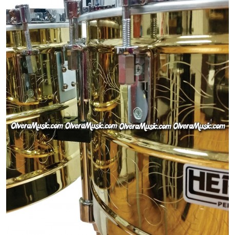 """HERCH Timbales 15""""&16"""" Engraved HP Model - Brass Finish"""