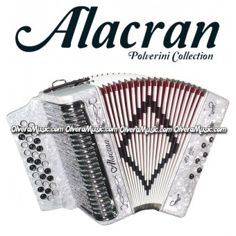 ALACRAN Diatonic Button Accordion Model 3112 - White