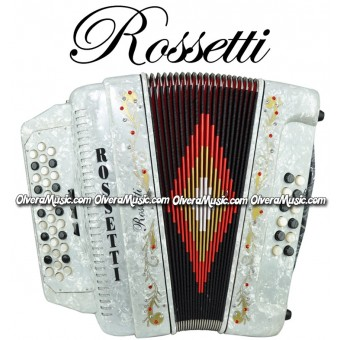 ROSSETTI Diatonic Button Accordion - Pearl White