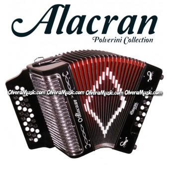 ALACRAN Diatonic Button Accordion Model 3112 - Black