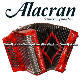 ALACRAN Diatonic Button Accordion Model 3112 - Pearl Red