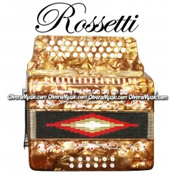 ROSSETTI Diatonic Button Accordion - Pearl Gold