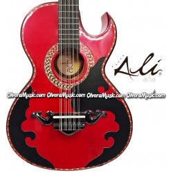 ALI ACHA Traditional Bajo Quinto Cypress Wood - Metallic Red