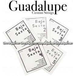 GUADALUPE Cuerdas Para Bajo Quinto - Cobre Colorado