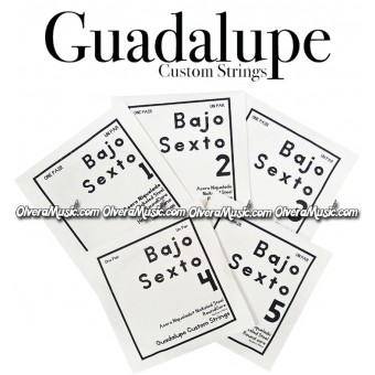 GUADALUPE Bajo Quinto Complete String Set - Nickeled Steel