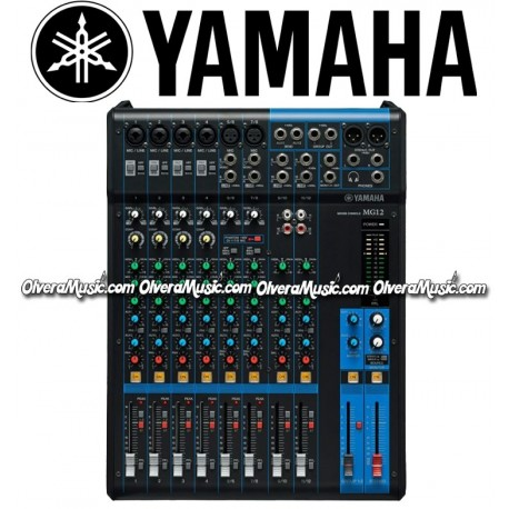 yamaha 12 channel compact mixer olvera music. Black Bedroom Furniture Sets. Home Design Ideas