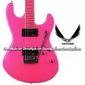 DEAN GUITARS Custom Zone Electric Guitar - Fluorescent Pink
