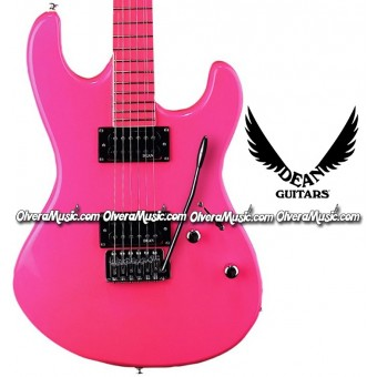 DEAN GUITARS Custom Zone Electric Guitar - Fluorescent Pink