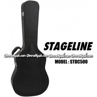 STAGELINE Estuche Duro Para Guitarra Acustica