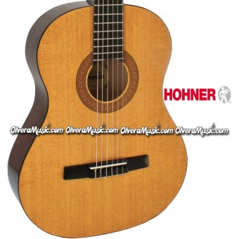 HOHNER Full Size Classical Acoustic Guitar - Natural Gloss Finish