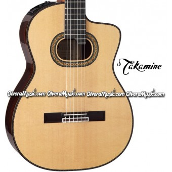 TAKAMINE Classical & Hirade Acoustic/Electric Guitar - Gloss Natural Finish