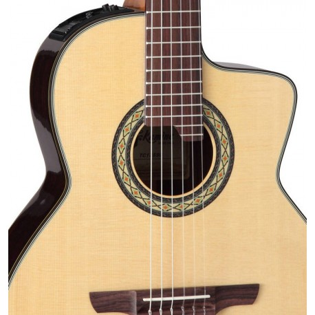 TAKAMINE Classical 24-Fret Cutaway Acoustic/Electric Guitar - Gloss Natural