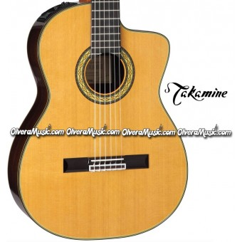TAKAMINE Classical & Hirade Acoustic/Electric Cutaway Guitar - Gloss Natural Finish