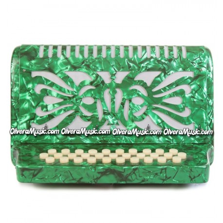ROSSETTI Diatonic Button Accordion - Pearl Green