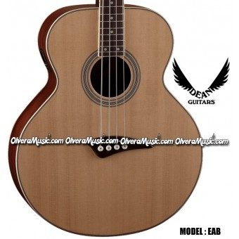 DEAN GUITARS Acoustic/Electric Bass Guitar - Natural