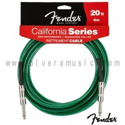 FENDER Cable para Instrumento Serie California Verde 20ft (6m)