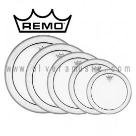 REMO Parche Pinstripe Clear (Transparente)