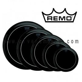 REMO Parche Ebony Pinstripe (Negro)