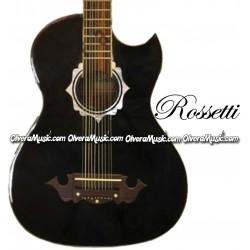 Rossetti Bajo Quinto Acustico/Electrico (Color Negro)