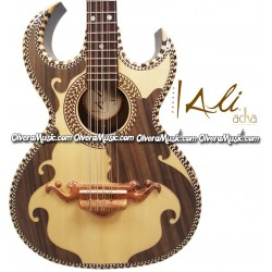 ALI ACHA Professional Bajo Quinto Walnut Wood Double Cut-Away
