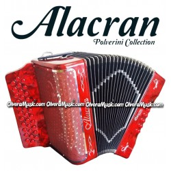 ALACRAN Deluxe Button Accordion - Red