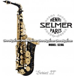 "SELMER PARIS ""Series II"" Jubilee Edition Professional Eb Alto Saxophone - Black Lacquer Finish"