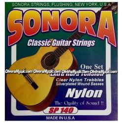 SONORA Cuerdas p/Guitarra Classica - Plastico Transparente