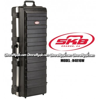 "SKB ATA Rail Pack Large Stand Case w/Built in Wheels 48""x16"""