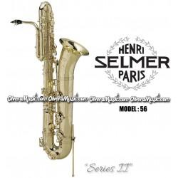 """SELMER PARIS 56 """"Serie II"""" Saxofón Bajo Profesional - Lacquer"""