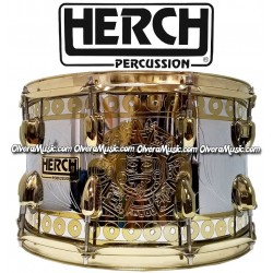 HERCH Snare 14x8 2-Tone Chrome/Gold Color w/Engraving 10-Lug