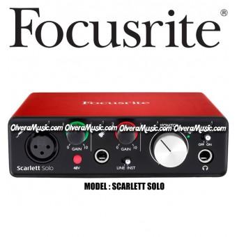 FOCUSRITE Scarlett Solo Segunda Generación USB Audio Interface