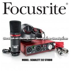 FOCUSRITE Scarlett 2i2 Studio 2nd Generation USB Audio Interface