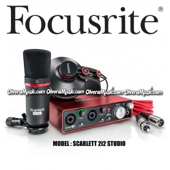 FOCUSRITE Scarlett 2i2 Studio Segunda Generación USB Audio Interface